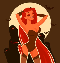 halloween devil vector image