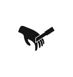 hand and knife icon trendy flat hand and knife vector image