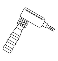 hand draw rotary tattoo machine icon outline vector image