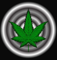 hemp leaf dependence on marijuana vector image