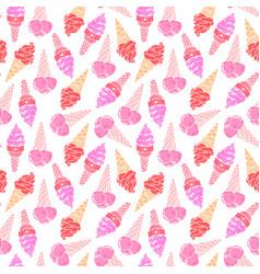 Icecream seamless pattern 2 vector