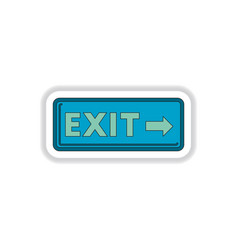 In paper sticker style exit vector