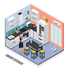 iot isometric composition vector image