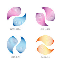 isolated logos set logo wave abstract vector image