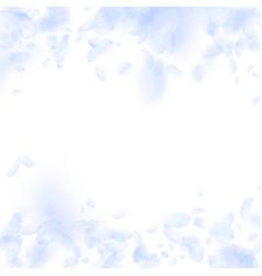 Light blue flower petals falling down flawless ro vector