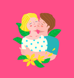 man and woman couple hugging portrait embracing vector image