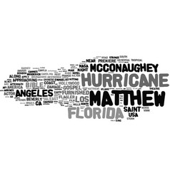 Matthew word cloud concept vector
