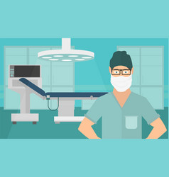 medical concept surgeon in operation vector image