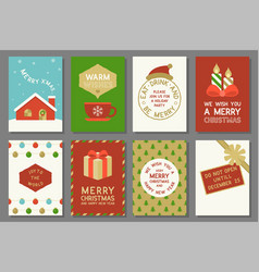 Merry christmas typography and elements such as gr vector