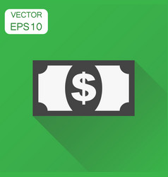 money dollar icon business concept money vector image