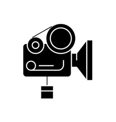 movie camera black concept icon movie vector image