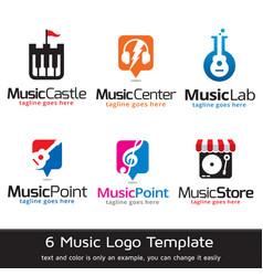 Music logo template vector