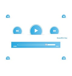 music player set vector image vector image