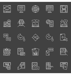 Online poker and casino icons vector image