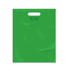 Plastic bag template vector