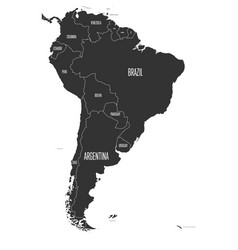political map of south america simple flat vector image