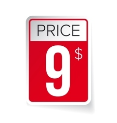 Price Tag sticker - Nine usd vector image