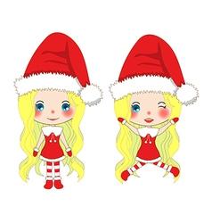 Santa Girl Jump vector image