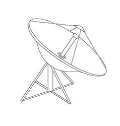 Satellite dish antenna vector image