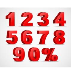 Set color 3d figures and percent vector