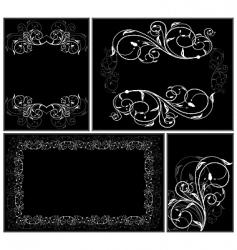 set elegance cards vector image