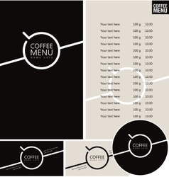 Set for the cafe menu vector
