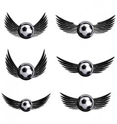 set soccer emblems vector image