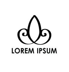 simple ll jj lj initials line art company logo vector image