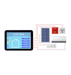 Smart house administration ventilation fire vector