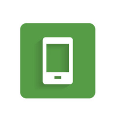 Smartphone flat icon object isolated on white vector