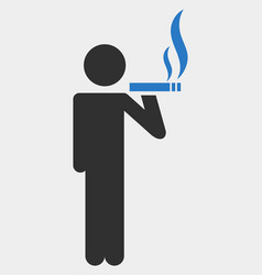 Smoker icon on white background vector