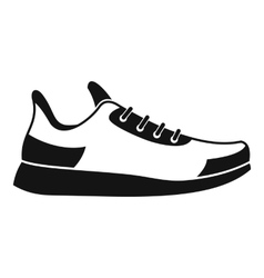 Sneaker icon simple style vector