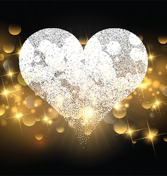 Sparkle heart design for Valentines Day vector image