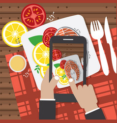 taking food fotos vector image