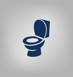 Toilet bowl flat icon vector