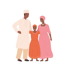 Traditional african family in national clothing vector