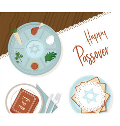traditional passover table for passover dinner vector image
