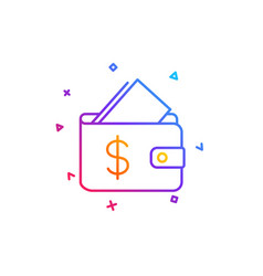 Wallet line icon affordability sign vector