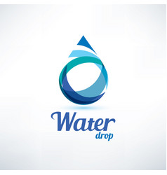 water drop logo template ecology and environment vector image