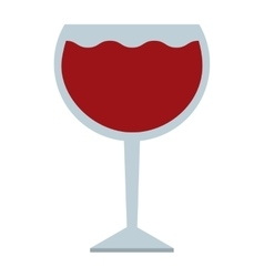 wine cup isolated icon design vector image