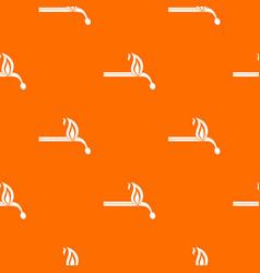 burning match pattern seamless vector image