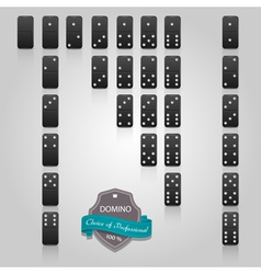 Domino black set of 28 pieces vector image vector image