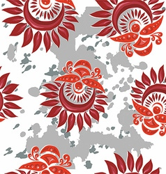 Floral and decorative pattern vector image