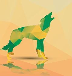 Geometric polygonal wolf pattern design vector image