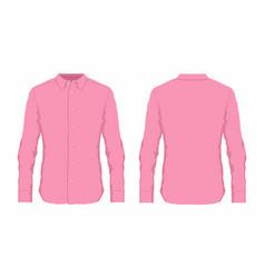 mens pink dress shirt vector image