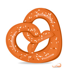 realistic tasty pretzel on the white vector image