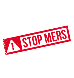 stop mers rubber stamp vector image