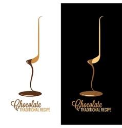 chocolate wrapper design menu background vector image vector image