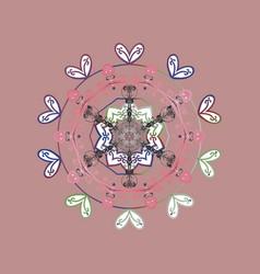 Falling christmas stylized snowflakes beautiful vector