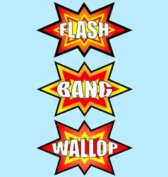flash bang wallop signs vector image vector image